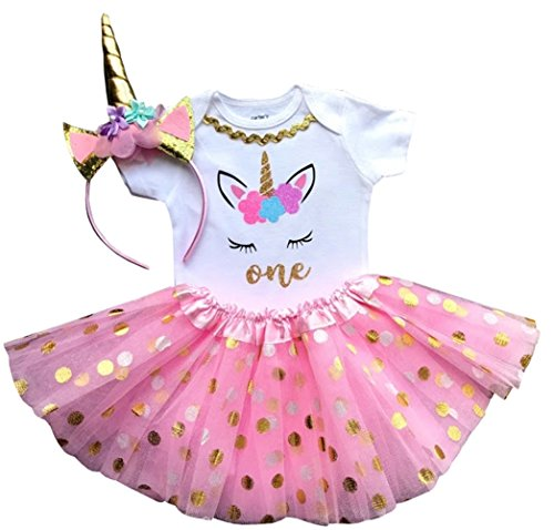 1st Birthday Outfit Baby Girl Tutu - Unicorn