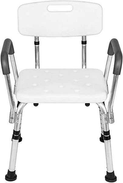 SSLine Shower Chair With Back Bathtub Lift Shower Bench With Armrest Height Adjustable Anti Slip Spa Bath Seat Stool For Elderly Senior Disabled And Handicap