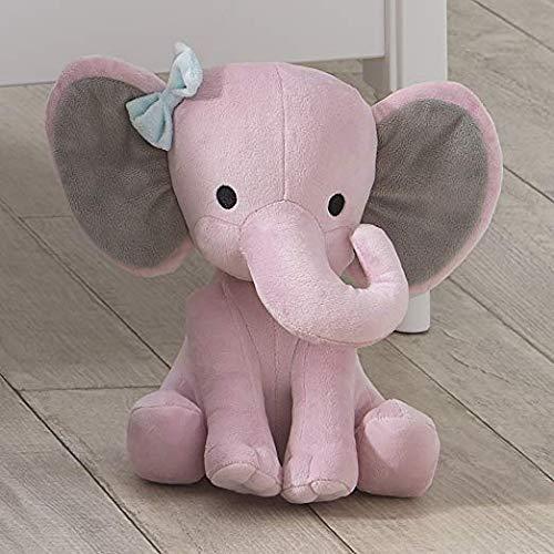 Bedtime Originals Twinkle Toes Pink Elephant Plush, Hazel (Limited Edition)