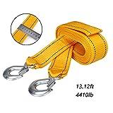 Alta resistencia Cuerdas de Remolque, Cuerda de Remolque para Autos Pequeños, con Dos Ganchos de Seguridad, Longitud de la Cuerda de Remolque 13.12ft, Peso del Cojinete 4410lb cuerda de seguridad