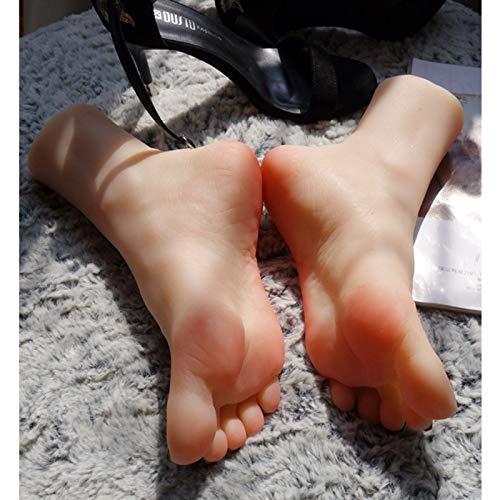 Miwaimao Pie de Silicona, Juguetes Fetiche, Silicona Maniquí Pie, Fetiche de pies, Fetiche de pies, Maniquí de pies de Silicona, Modelo de pies de Silicona,Pies Femeninas de Silicona