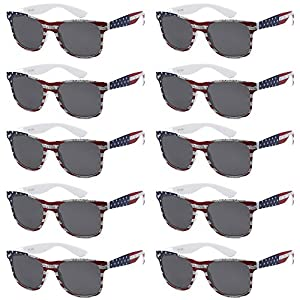 WHOLESALE UNISEX 80'S RETRO STYLE BULK LOT PROMOTIONAL SUNGLASSES – 10 PACK