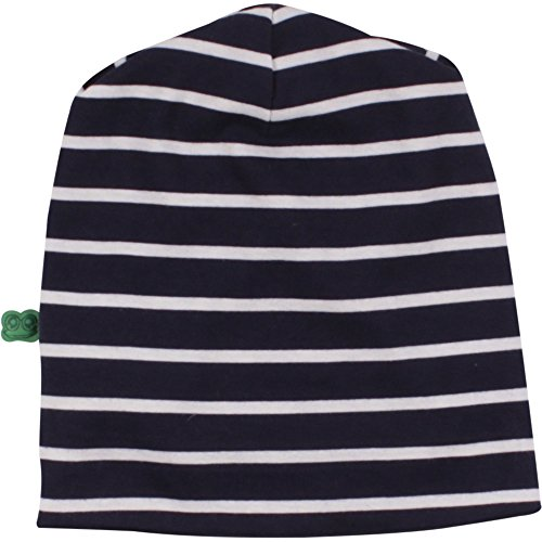 Fred's World by Green Cotton Unisex Baby Sailor Stripe Beanie Mütze, Blau (Navy 019392001), M (Herstellergröße: 68/74)