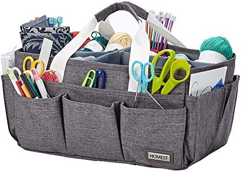 HOMEST Craft Supplies Organizer Tote Bag Caddy for Scrapbooking Sewing Handle Carrier for Craft product image