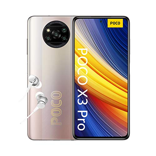 """POCO X3 Pro - Smartphone 6+128 GB, 6,67"""" 120Hz FHD+DotDisplay, Snapdragon 860, Cámara Cuádruple de 48 MP, 5160mAh, Bronce Metálico"""