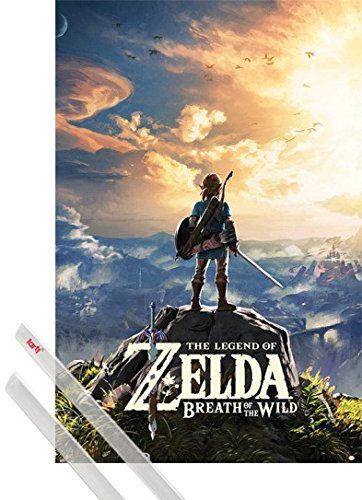 1art1® Póster + Soporte: The Legend of Zelda Póster (91x61 cm) Breath...