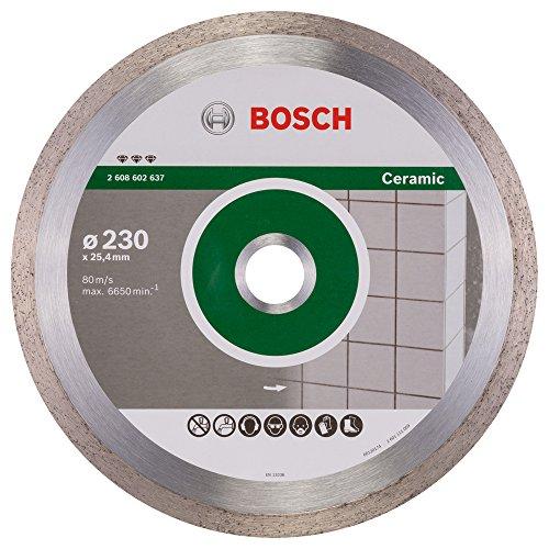 Bosch Professional Diamanttrennscheibe Best für Ceramic, 230 x 25,40 x 2,4 x 10 mm, 2608602637
