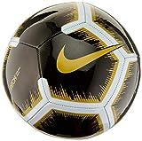 Nike Unisex– Erwachsene NK PTCH-FA18 Fußballbälle, Black/White/MTLC Vivid Gold, 5
