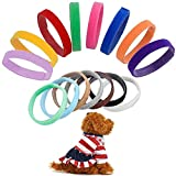 BETOY15 pcs Collares Cachorro – Collares de Identificación para Cachorro Gatito ID Bandas Ajustables,Identifica el Collar,ID Bandas Ajustable para Mascota Perros Gatos Recién Nacido