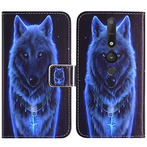TienJueShi Wolf Flip Book Stand Brief Leder Tasche Schütz Hülle Handy Hülle Abdeckung Fall Wallet Cover Etüi Skin Für Lenovo Phab 2 Pro 6.4 inch
