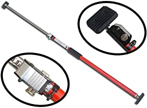 Sparehand Steel Adjustable Cargo Bar with Self-Locking Spring Ratchet for Vehicles, Extends 3.6 ft. to 6 ft.