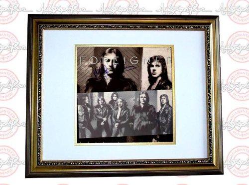 Foreigner Autographed Signed Double Vision LP Album AFTAL - PSA/DNA...