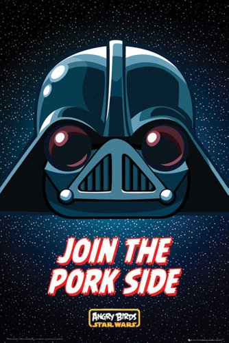 Empire 569974 Angry Birds - Star Wars - Join the Pork SidePoster afdrukken videospel, 61 x 91,5 cm