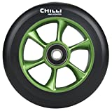 Chilli Turbo Wheel Black/Green 110mm