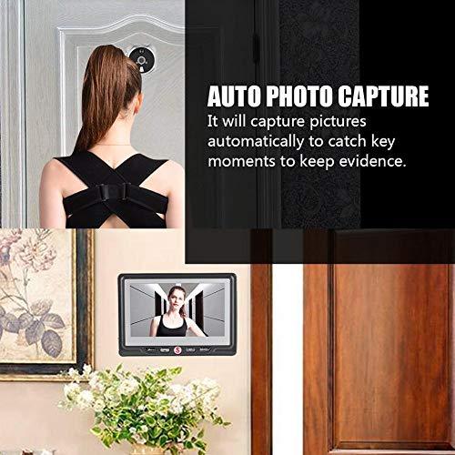 Lantro JS Cámara Mirilla, Timbre Digital, con Timbre de Seguridad 24 Horas Ojos de Gato electrónicos para Hotel, Edificio, hogar