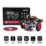 OSOYOO Arduino UNO モデル3 ロボットカー DIY スターター キット | プログラミング を 構築 するための リモート 制御 アプリ 教育 用 電動 ロボティクス | コーディング 方法 の 学習 | 子供 、 学生 、 大人 向けの IoT 機械 的コーディング