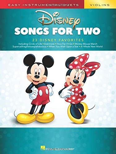 Disney Songs for Two Violins: Easy Instrumental Duets