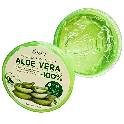 [Esfolio]Soothing Moisture 100% Aloe Vera Gel (300 ml / 10.4 fl.oz.) - Enriched Pure Aloe Vera Gel [Korean Cosmetics] Best K-Beauty Product