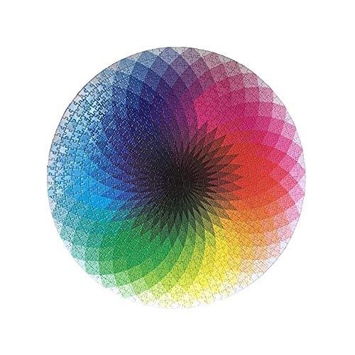 Kioski Rainbow Palette Puzzle Gradient Color Rainbow Grote ronde puzzel 1000 stukjes Puzzels voor volwassenen Tieners Round Thousand Color Rainbow Jigsaw Puzzle Toy
