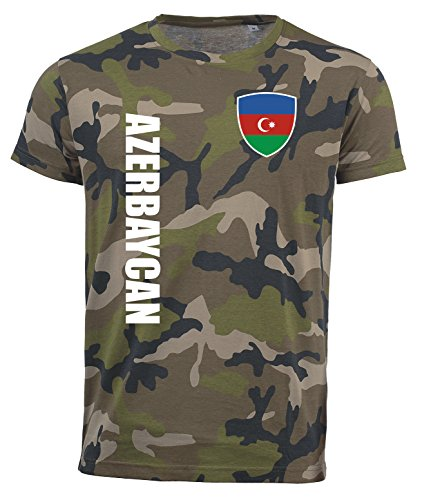 aprom Aserbaidschan T-Shirt Camouflage Trikot Look Army Sp/A (S)