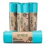 RELEVO 100% Reciclado Bolsas de Basura, extra resistentes 20 L,...