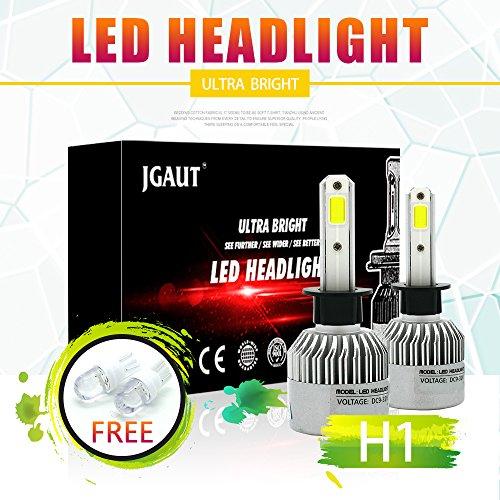 Kit conversione faro LED 100W H1 12000LM, proiettore abbagliante o anabbagliante, fendinebbia DRL Light, HID o lampada alogena Sostituzione luce, bianco xenon 6500K, 1 paio - 1 anno di garanzia