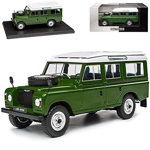 alles-meine.de GmbH Land Rover Defender Series III Grün 1970-1983 1/24 Whitebox Modell Auto mit individiuellem Wunschkennzeichen