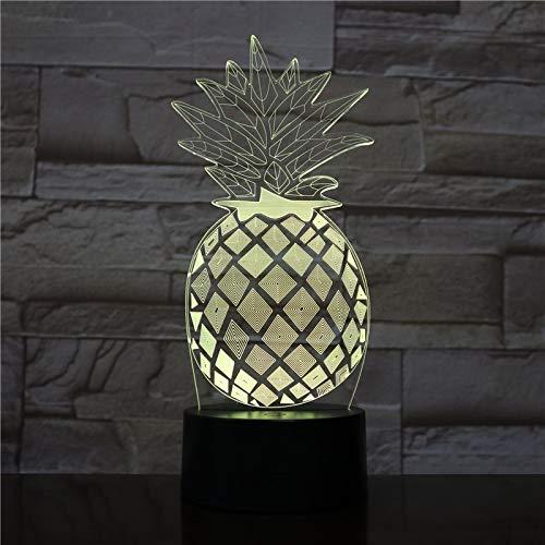 Piña Luz de Noche Color Fantasma Luz para Escritorio de Dormitorio Luz de Noche Decoración de Mesa Goteo Transporte Negocio