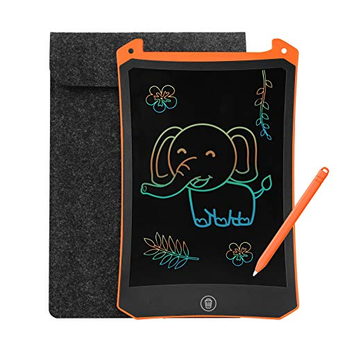 LEYAOYAO LCD Writing Tablet, Colorful Drawing Tablet with Protect Bag, Kids Drawing Pad 8.5 Inch Doodle Board,Toddler Boy and Girl Learning Toys Gift for 3 4 5 6 Years Old (Orange)