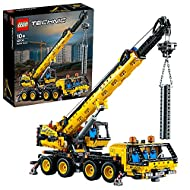 """The crane truck toy features 8-wheel steering, 4 individually controlled outriggers, 2 cabins and super-high telescopic arm 30"""" (78cm) long! Crane operator's cabin turns around, hydraulic mechanism lifts the arm 70°, while crane blocks and ropes rais..."""