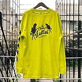(レフラー) LEFLAH Rose ロンT ロングスリーブ Tシャツ 長袖 longsleeve tee (XL, セーフティグリーン)