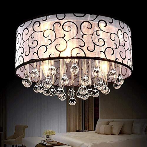 Moderne plafondlamp minimalistische sfeer zwart rond plafondlamp 3-spots eenvoudige lampenkap van kristal elegant woonkamer eetkamer werkkamer plafondlamp verlichting Ø40 cm max.60 W E14