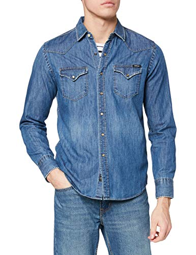 REPLAY M4860z.000.26c 316 Camisa Vaquera, Azul (Dark Blue Denim 9), Medium para Hombre
