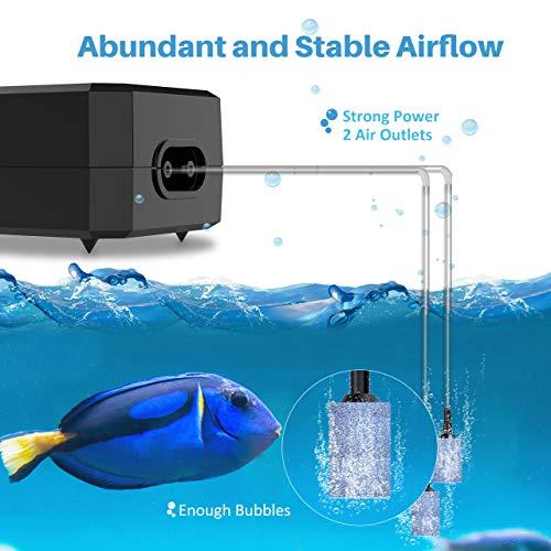 Homasy Upgraded Aquarium Air Pump