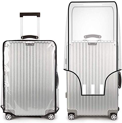 Clear PVC Suitcase Cover Protectors,Luggage Covers Protectors Transparent,Suitcase Cover Protectors Clear PVC Luggage Protector,Transparent PVC Luggage Cover,Trolley Suitcase Protective (28 Zoll)