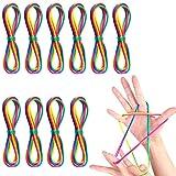 Faburo El Cordón Arcoíris 8 Piezas Juegos yJuego del Corde, Cordón Arcoiris Colorido Regalo Infantil