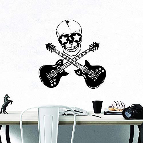 XCSJX Guitarra romántica decoración del hogar calcomanías Sala de Estar Dormitorio Mural 47x47cm