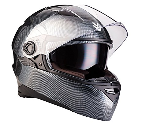 "black Armor /· AV-63 /""Fun Shiny Black/"" 57-58cm /· Casco moto Demi Jet /· motocicleta Urban Scooter Helmet Urbano Retro /· ECE certificado /· Separate Visors /· Click-n-Secure/™ Clip /· M"