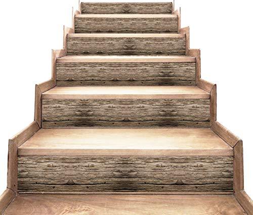 peler et coller - décalcomanies de contremarche d'escalier - Style en bois - paquet de 5