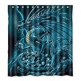 Dalliy Brauch drachen Wasserdicht Polyester Shower Curtain Duschvorhang 167cm x 183cm