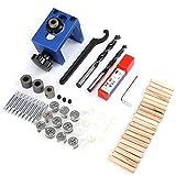 Woodworking Dowel Hole Jig Locator, Drill Bit Kit...
