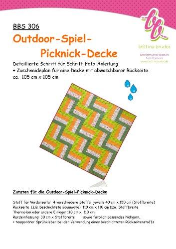 BBS 306 Schnittmuster für Patchwork Picknick Decke Fotoanleitung bettina bruder®