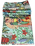 Majisacraft Sanganeri Siebdruck Frida Kahlo Design Blumen