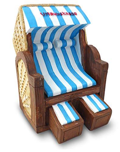 Solinga Spardose Strandkorb | Reisekasse | Geschenk für Urlaub und Reise | Deko Geldgeschenk | Geschenkidee als Urlaubskasse | Grosse Sparbüchse
