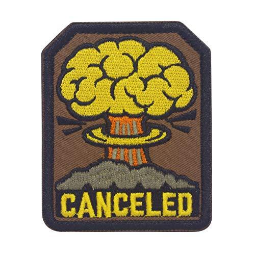 Cobra Tactical Solutions Canceled Fallout A-Bomb Military Besticktes Patch mit Klettverschluss für Airsoft Paintball für Taktische Kleidung Rucksack