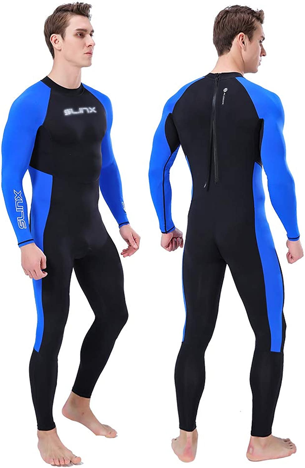 Mens Wetsuits Sunscreen Quick Drying for Surfing, Diving, Paddle Boarding, Kayaking