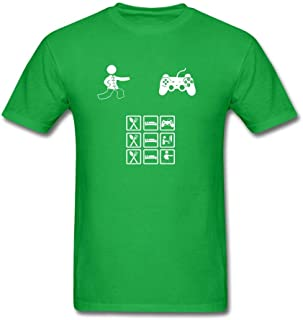 Tangry Men's Eat Game Sleep Design Cotton Short Sleeve T Shirt