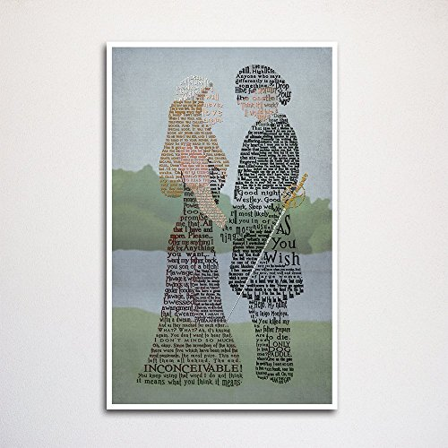 Princess Bride word art print 11x17' unframed | typography art | made from quotes | wall home décor | love story | wesley and buttercup