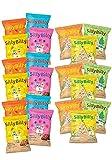 SillyBilly - Snack ecológico - Pack AHORRO - Mixto - 21 bolsitas - Tortitas de arroz integral - Piezas de cereales y fruta - Quinoa, espelta, maiz, arroz negro - Almuerzos y Meriendas