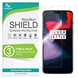 (3-Pack) RinoGear Screen Protector for OnePlus 6 Case Friendly OnePlus 6 Screen Protector Accessory Full Coverage Clear Film
